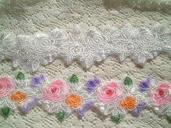 画像1: KL98*薔薇と葉*エンブロイダリーレース