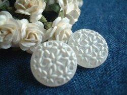 画像1: K151*15mm*白半透明小花がいっぱい