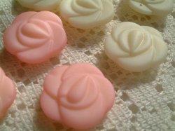 画像1: K180*レトロ薔薇ボタン